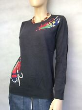 """BODEN ~ """"HERITAGE FLY FISHING JUMPER""""  STEEL GREY, 5% CASHMERE - SIZE 10"""