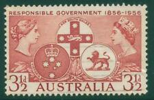 [JSC]1956 Australian QE2 Responsible Government 3 1/2d brown