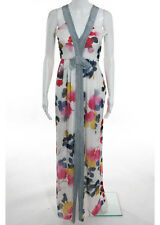 MOSCHINO CHEAP AND CHIC Multi-Colored Floral Print Sleeveless Maxi Dress Sz 4