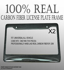 JDM 2pc Carbon Fiber License Plate Frame Cover Holder Tag Dot Authentic SnaC5303