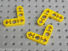 LEGO TECHNIC Yellow Beam Liftarm Bent ref 32056 / Set 8295 8419 8264 8457 8053..