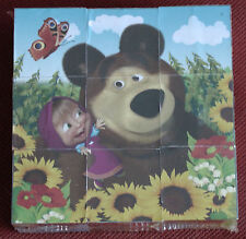 Toy for children 9 Plastic puzzle cubes Masha and The Bear Masha i Medved