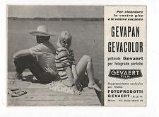 Pubblicità vintage 1957 GEVAERT PHOTO FOTO PELLICOLE advertising reklame werbung