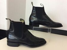 R M Williams Men's Leather Chelsea Boots, Uk 8 Eu42, Black VGC