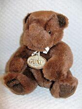 """Gund Teddy Bear Brown 6"""" Plush 1989 Cute Soft  Stuffed Animal with Tag"""