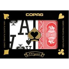 Copag Low Vision Poker Size Magnum Index Plastic Playing Cards (Blue Red)
