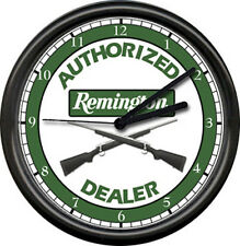 Remington Rifle Hunting Hunter Gun Shot Sales Shop Dealer Sign Wall Clock