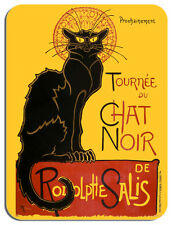 Tournee du Chat Noir Steinlen Black Cat Mouse Mat. French Art Print Mouse Pad