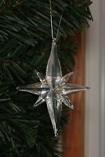 Real Glass Nativity Bethlehem STAR Ornament SNOWSTAR House of Marble Beautiful!