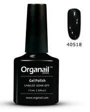 1-Vernis à ongle Professionnel 18  Black pool semi permanent Organail Gel UV LED