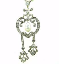 Authentic Art Deco Mine Cut Diamond Platinum & Gold Necklace Absolute Rarity