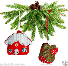 2 X Christmas Decorations Ornaments Sewing PATTERNS Robin & Cottage Indie Design