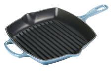 LE CREUSET Bistecchiera quadrata, grill in ghisa blu oceano, 26x26 cm