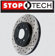 FRONT [LEFT & RIGHT] Stoptech SportStop Drilled Slotted Brake Rotors STF61077