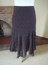 STUNNING BLACK MULTI POLKA DOT SKIRT NEW - M&S PER UNA  - SIZE 18 - HOLIDAY