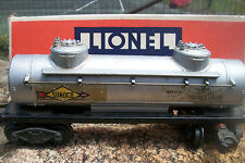 LIONEL O Scale SUNOCO TANK CAR #2465 Vintage METAL In Box HARD2FIND NICE