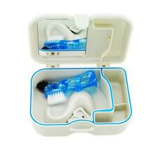 2016  Denture Storage Box Case With Mirror + Clean Brush Dental Appliance