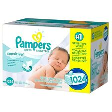 PAMPERS Sensitive Baby Wipes 1024ct.FREE SHIPPING & PERFUME FREE, BEST SERVICE