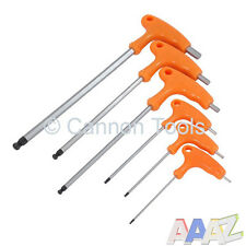 6PC BALL POINT END LONG REACH T HANDLE ALLEN ALEN ALAN HEX KEY SET H2 - H8MM