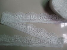 5 yards of beautiful high white quality elastic lace ribbon free shipping