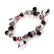 Children's Beaded Stretch Bracelet W Puppy Dog Charms