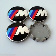 BRAND NEW 4 Pcs BMW M Power Emblem Logo Badge Hub Wheel Rim Center Cap 68mm Set