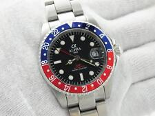 ALPHA GMT-MASTER PEPSI INSERT MATTE BLACK DIAL AUTOMATIC WATCH*Ebay Lowest Price