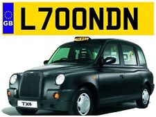 L700 NDN LONDON CITY LONDONERS ENGLAND TAXI CABBY CABBIE TX4 ESSEX NUMBER PLATE