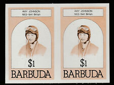 Barbuda (622) 1981 AMY JOHNSON $1 IMPERF COPPIA U/M