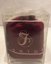 VHTF Fenton GSE MARBLES, Original Pkg, Logo BURGUNDY RED Cloth Bag FREE US SHIP