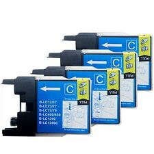 For Brother LC-75 Cyan Ink Cartridge MFC-J6910DW MFC-J825DW J6710 - 4 Pack