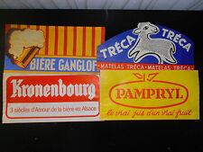 lot de 4 calots publicitaires chapeaux tour de France bière - boissons ( ref 12