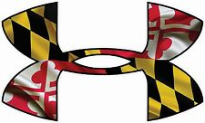 "Under Armour Maryland Flag Car/Window Decals Stickers- 11.5"" x 7"" .."