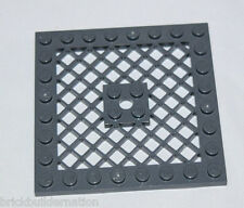 ☀️Lego Gray Plate Modified 8 x 8 w/ Grille PERFECT For FLOORS DARK BLUISH GRAY