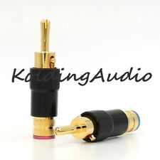 8pcs high quality 24k Audio Banana Speaker Plug Screw Lock for 9mm Cable Wire