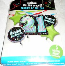 Anagram HAPPY 21st BIRTHDAY To You! Foil Balloon Bouquet 5 Balloons