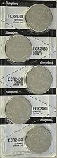 6 Pcs Energizer CR 2430 CR2430 ECR2430BP 3V Lithium Coin Cell Battery