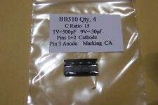 BB510 30-500pF High capacitance low voltage varicap varactor diodes Qty. 4 NEW