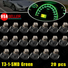20x T3 Neo Wedge 1-1210 SMD Olive Green Cluster Instrument Dash Climate LED Bulb