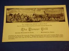 Pioneer Grill Conestoga Wagon George Washington Hotel PA Vintage Postcard PC6