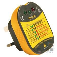 DiLog DL1090 13A Electrical Socket Tester with Audible Buzzer UK Stock