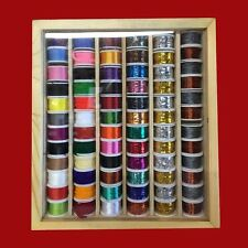 72 Spools of Fly Tying Thread, Tinsel, Floss, Wool, Copper and Lead Wires