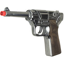 Luger Semi-Automatic  Pistol 8 Shot Cap Gun - Chrome