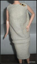 DRESS MATTEL BARBIE DOLL I LOVE LUCY GETS A PARIS GOWN BEIGE  DRESS WITH BROOCH