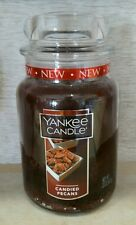 Yankee Candle Candied Pecans 22 Oz. Jar Candle New Label 2016 !