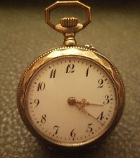 Antique Remontoir Small Silver Pocket Watch Cylinder