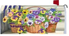 Pansy Flower Steps Magnetic Mailbox Cover