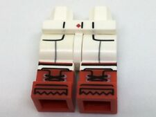 LEGO - Minifig, Hips & Legs w/ Red Diamond Button, Pockets & Detailed Red Boots
