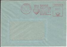 Firmenbrief mit Freistempel Hannover, Bode Panzer Geldschrankfabrik, 1952
