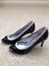 New with Box Ann Taylor Patent Leather Scarlet Peeptoe Pump 6M